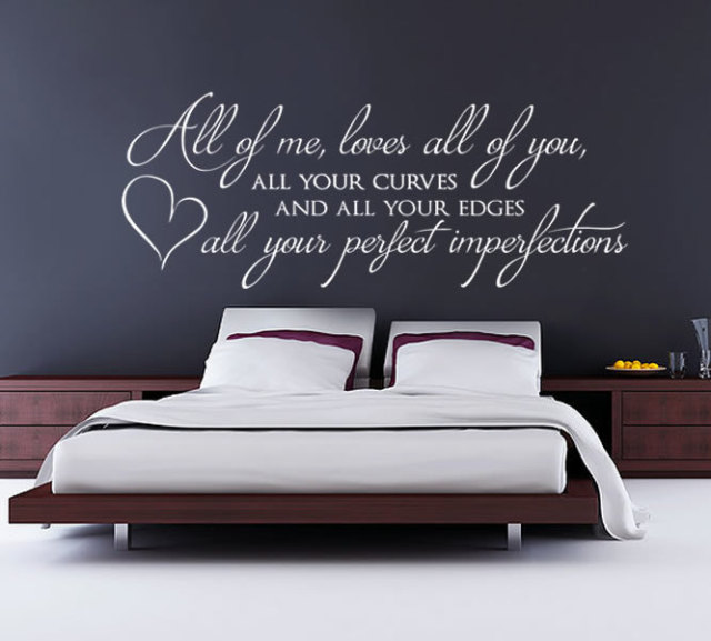 All of me loves all of you wall sticker home decor bedroom for Bedroom floor letra