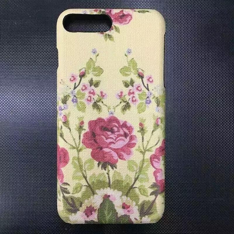 Цена за Для iPhone 7/плюс 7 Plus модные кожаные сухоцветы телефон Обложка чехол пчелы цветок случае Высококачественный чехол телефона