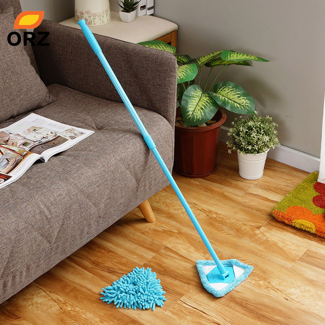 Orz 2pcs Multifunctional Mop Scalable Dust Floor Cleaning Mop Car