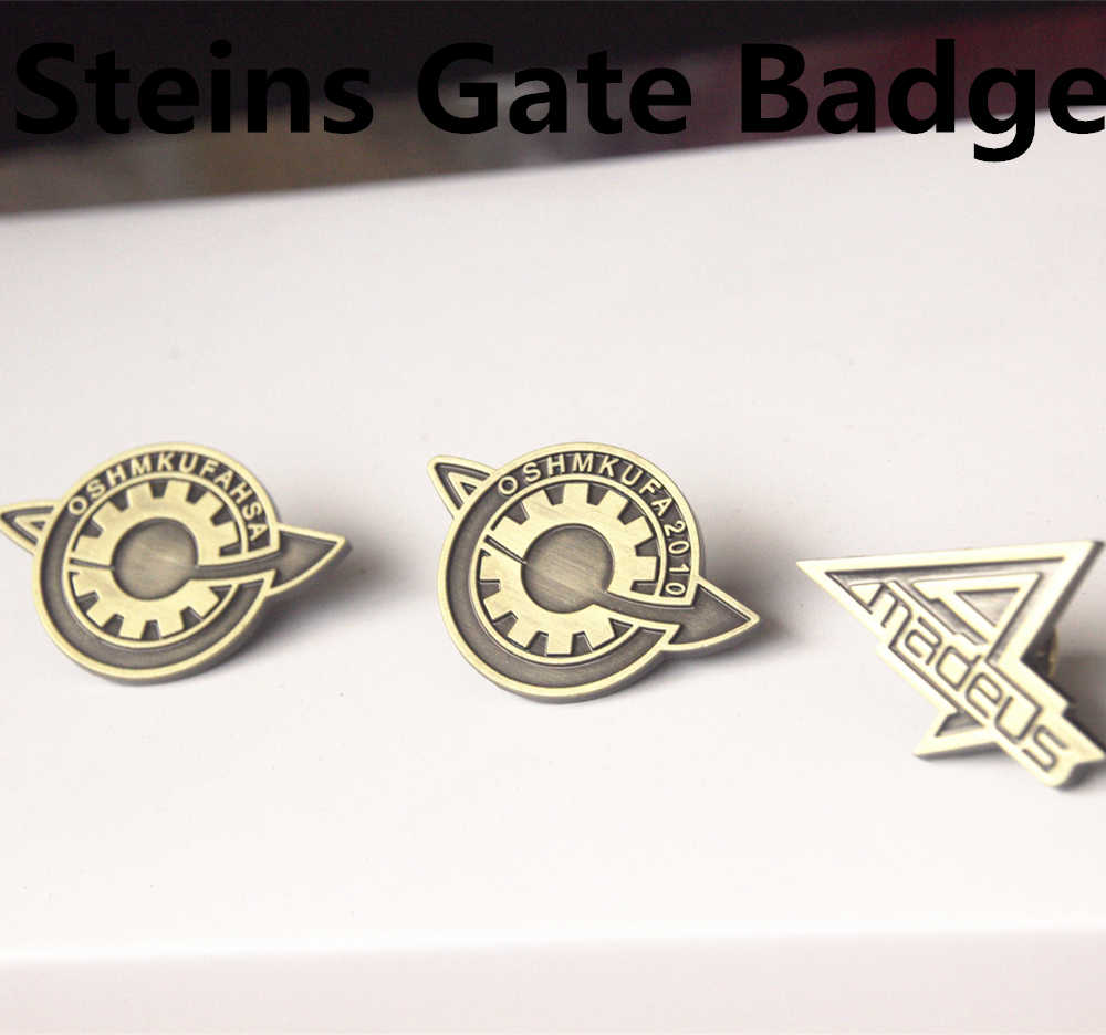 Anime Steins Gate 0 Makise Kurisu Labmem Amadeus Cosplay Badge Pin Metal Broche