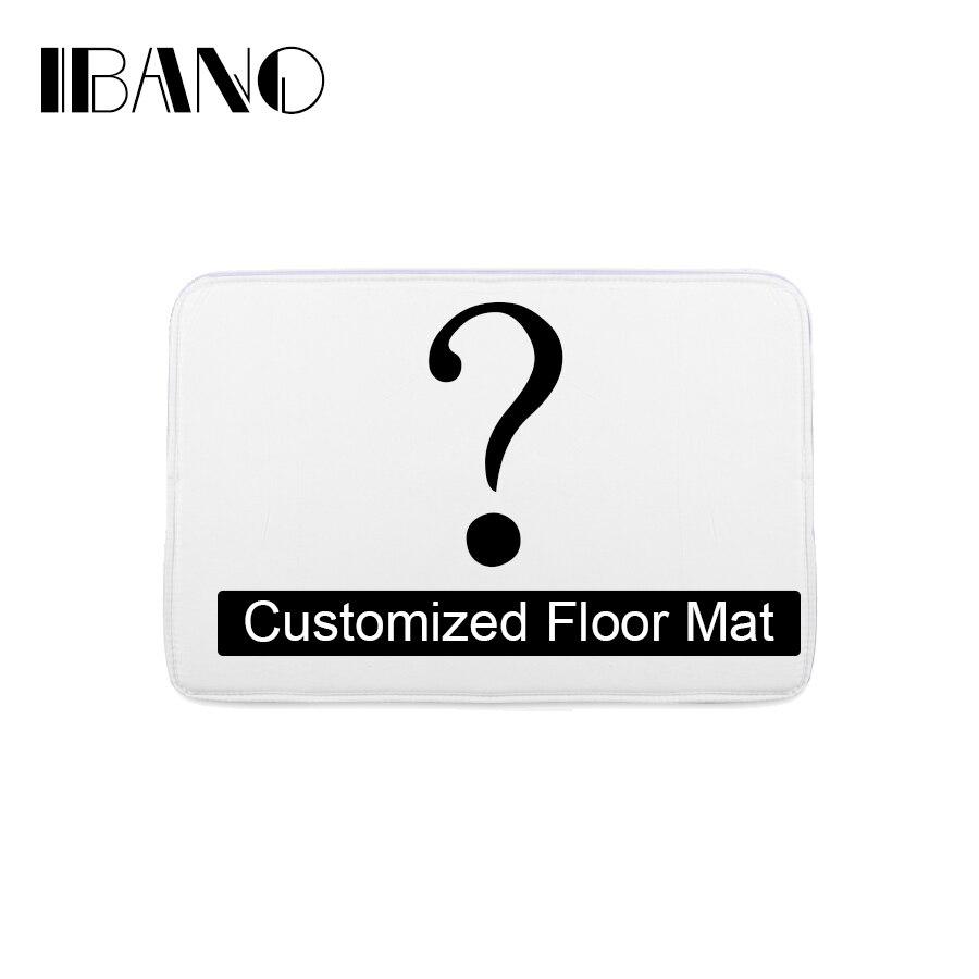 Baño personalizado Esterillas impreso baño alfombras de cocina puerta Esterillas s piso Esterillas para sala de estar anti-slip tapete
