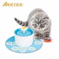 ABEDOE 220 V Elektrik Çiçek Hayvan Çeşme 1.6L Otomatik Köpek Kedi su Besleyici Içme Kase Pet Içecek Kedi Su Pınarı AB fiş