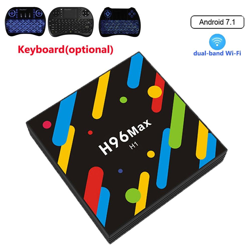 H96 MAX -H1 TV Box Android 7.1 4GB RAM 32GB ROM RK3328 Set Top Box 2.4G/5G Wifi Bluetooth 4.0 4K H.265 Media Player pk h96 pro