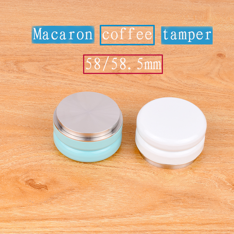 1pc Free Shipping Professional Espresso Wbc Stainless Steel Coffee Tamper 58 5mm Adjustable Macaron Hammer