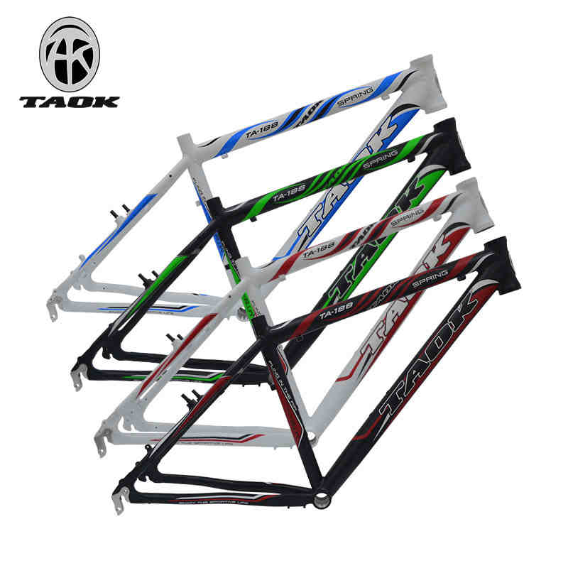TAOK mountain bike bicycle frame 26 inch disc brake V brake Aluminum Alloy seamless frame tripod 17 inch mtb bike raw frame 26 aluminium alloy mountain bike frame bike suspension frame bicycle frame