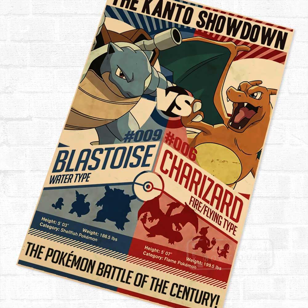 Centro Pokemon Pocket Monster Cartoon vintage Kraft retro cartel ...