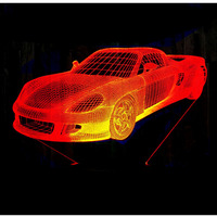 3D LED Night Light Music Sports Car Roadster Racing Bike With 7 Colors Light For Home