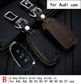 Genuine Leather CAR KEY CASE For AUDI A4L A6L Q5 A3 A5 A7 A8 S5 S6 S7 Use Automobile Special-purpose CAR KEY HOLDER