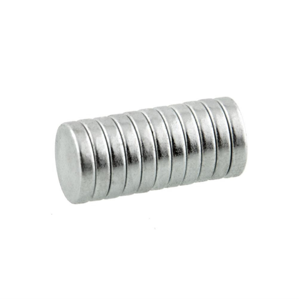 10pcs 10x2mm Practical Round Super Strong Cuboid Magnets Force Rare Earth Fridge Neodymium DIY