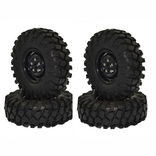 """1:10 rc 크롤러 자동차 용 1.9 """"108mm 타이어 및 휠 axial scx10 d90"""