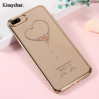 KINGXBAR Cover For IPhone 7 Cover Shell Clear Hard Case For IPhone7 Case Phone Bag