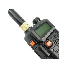"uv 5r uv Baofeng UV-5R מכשיר הקשר שבח אנטנה Dual Band 5 ס""מ Portable אנטנה רדיו קצר SMA-F עבור Baofeng UV 5R BF-888s UV-82 Telsiz (4)"