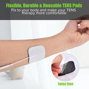 Image 4 - 5*5cm 100pcs Nerve Stimulator Electrode Pads EMS Tens Electrode Acupuncture Muscle Stimulator Massager Pads 2mm Plug