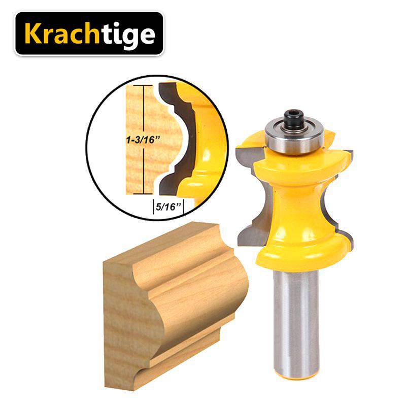 Krachtige 1/2 Shank Radius Convex Column/Face Molding Router Bit Line knife Door knife Tenon Milling Cutter 1 2 door nail cutter knife household west tenon joints fit together stitching carpentry knife blade 3pcs et
