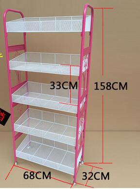 Купить с кэшбэком Multilayer cosmetics display shelf. Small boutique shelves. Ground receive a shelf