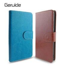 Geruide Original Leather Credit Card Wallet Flip Cover Case For Sony Xperia Z5 Compact case For Sony Z5 z5 E6603 E6653 Cases bag стоимость
