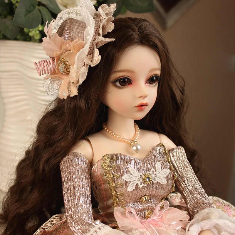 BJD 1/3 bola Boneca articulada presentes para a menina Pintado À Mão maquiagem fullset Lolita/princesa boneca com roupas ANVEENA