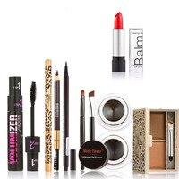 Professional Makeup Set Sexy Lipstick Eyebrow Powder Mascara Gel Eyeliner Eye Liner Pen Eyebrow Pencil Cosmetics