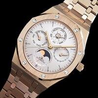 DIDUN Men Watches Top Brand Luxury Mechanical Automatic Watch Fashion Business Moonphase Watch 30m Waterproof