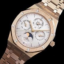 Мужской ремешок для часов didun часы Лидирующий бренд роскошный механический автоматический часы модные деловые часы Moonphase 30 м водонепроницаемый