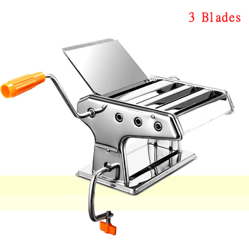 AREYOUCAN 2--9MM Hand Made 3 Blades Stainless Steel Pasta Lasagne Spaghetti Noodle Maker Machine
