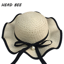 HEAD BEE font b 2018 b font Fashion Sun Hat Kid Wide Brim Beach Cap