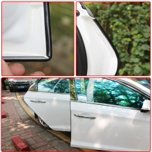 Hot!Car Anti Collision Auto Door Avoidance Stick Rubber Strip Decoration Stickers car door stickers wrap