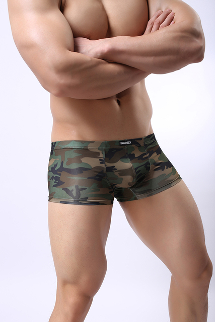 CLEVER-MENMODE Breathable Boxershorts Camouflage Boxer Trunks Mens Homme Cueca