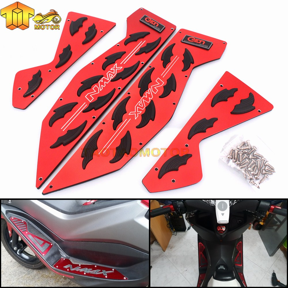CK CATTLE KING Motorcycle Modified parts mats footrest Aluminum alloy pedal plate For Yamaha Nmax 155