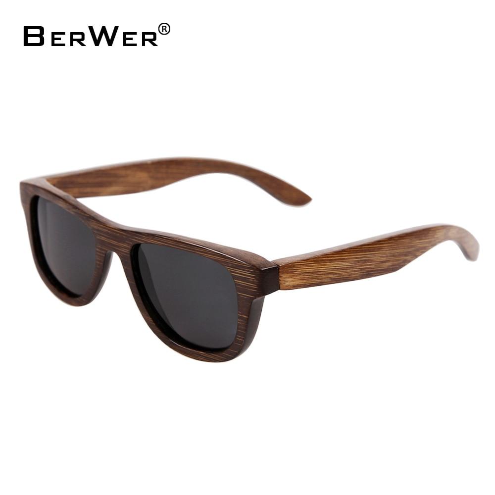 BerWer 100% håndlagde naturlige små størrelse bambus solbriller - Klær tilbehør