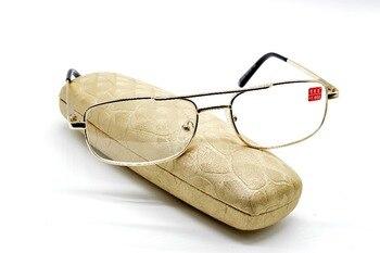 Occhiali Da Lettura Golden คู่สะพานการบินสไตล์เหล็กอ่านหนังสือ Glasses + 1.0 + 1.5 + 2.0 + 2.5 + 3.0 + 3.5 + 4.0