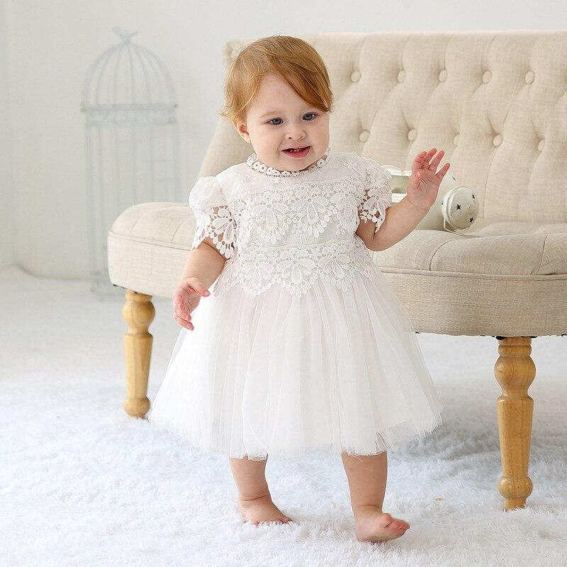 1 an anniversaire bébé fille robes dentelle mignon fête Vestido formel 2019 bambin bébé filles vêtements pour 0-24 mois RBF194002