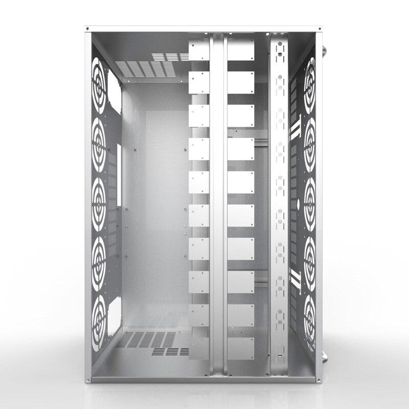 Rama GPU górnictwo Rig Case serwer USB górnik Bitcoin komputer poziomy ATX 12 karta graficzna Ethereum podwozie maszyny