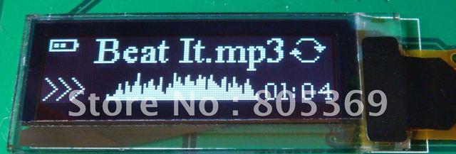 0.91 inch 128x32 Internal DC/DC 14pin I2C OLED screen OLED display