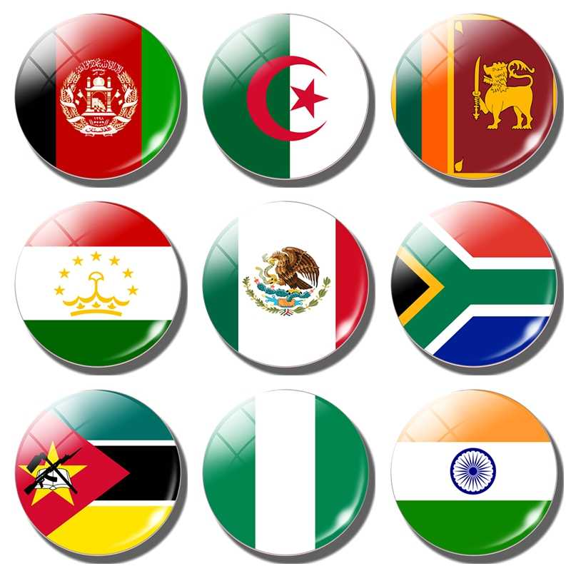 Fridge magnet National flag refrigerator Stickers Afghanistan Algeria Sri Lanka Sudan Mexico South Africa Mozambique Nigeria
