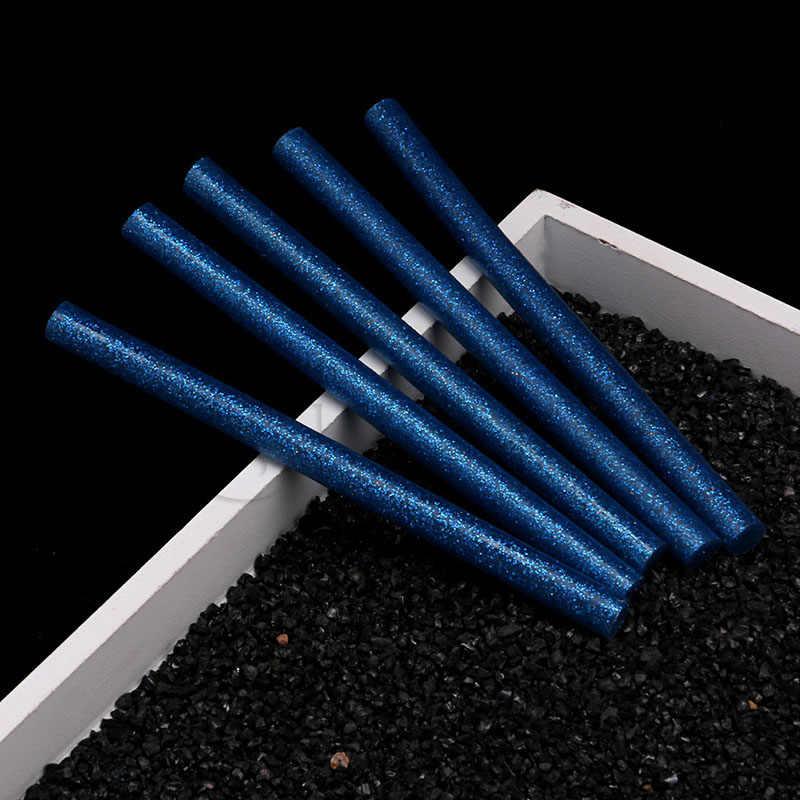 5 ピース/セット色ホットメルト接着剤スティック 7 ミリメートル粘着盛り合わせグリッターグルーはプロ用の電気グルーガンクラフト修理
