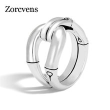 ZORCVENS Punk Vintage Silver Color irregular Wedding Ring for Woman Man Simple Fashion hip hop Jewelry Dropshipping(China)