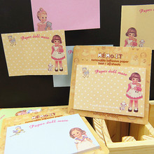 60 pcs/Lot Paper doll mate sticker Decorative paper Memo pad Post it sticky notes cute stationery material School supplies FM651
