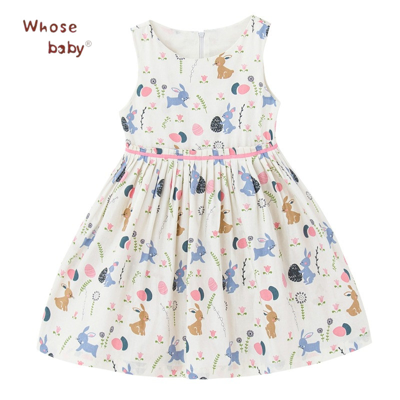 Girls Dress Summer Printed Cotton Dresses For Girls Infant Sweet Children Clothing Animal Cartoon Sundress Fashion Kids Clothes girls floral summer dresses baby clothing girl dress print sundress children cotton clothes flower dresses sleeveless dress 4 14