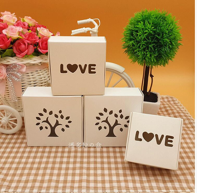 Small White Soap Paper Packaging Box With Windowwedding Gift Box