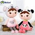 New 45 cm 65 cm crianças Kawaii Bichos de pelúcia Boneca de Pano De Pelúcia Metoo Bonecas de Coelho de brinquedo Para O Aniversário Do Bebê Presentes de Natal Transporte da gota J826