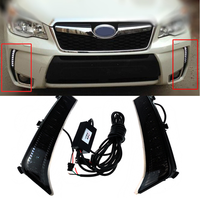 Car DRL Daytime Running Lights for Subaru Forester 2013 2014 Dimming style Relay high Quality 8X Led light keenstone intelligent balance battery charger 6a 100w customzied for yuneec typhoon q500 rc drone with led screen us eu uk plug