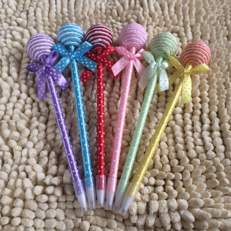 100 pcs Lot Lollipop pens ballpoint pen Kawaii Stationery ballpen Caneta Novelty gift zakka Office supplies