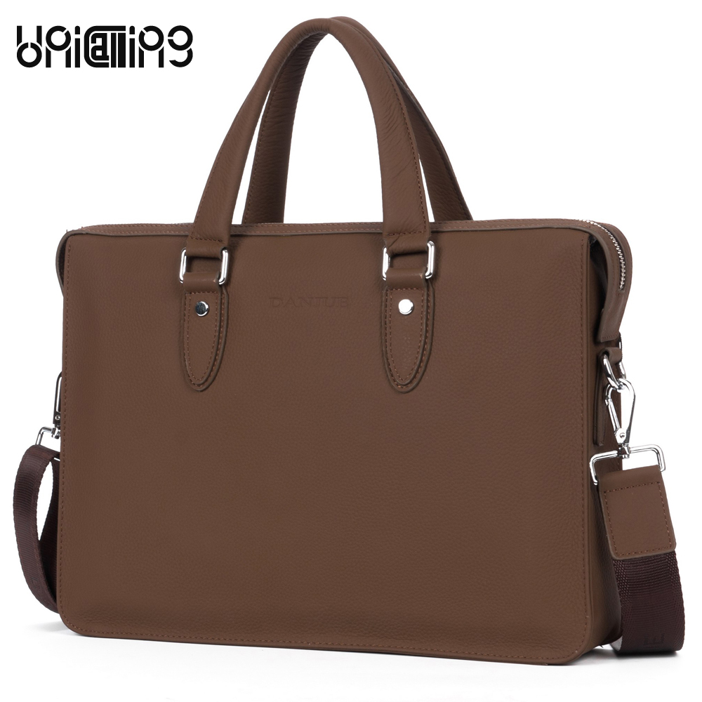 Leather briefcase bag men genuine leather brand business bag handbag stylish leather laptop bag computer bag for men 100% genuine leather men bag brand designed men laptop briefcase business bag cow leather men handbag shoulder bag messenger bag