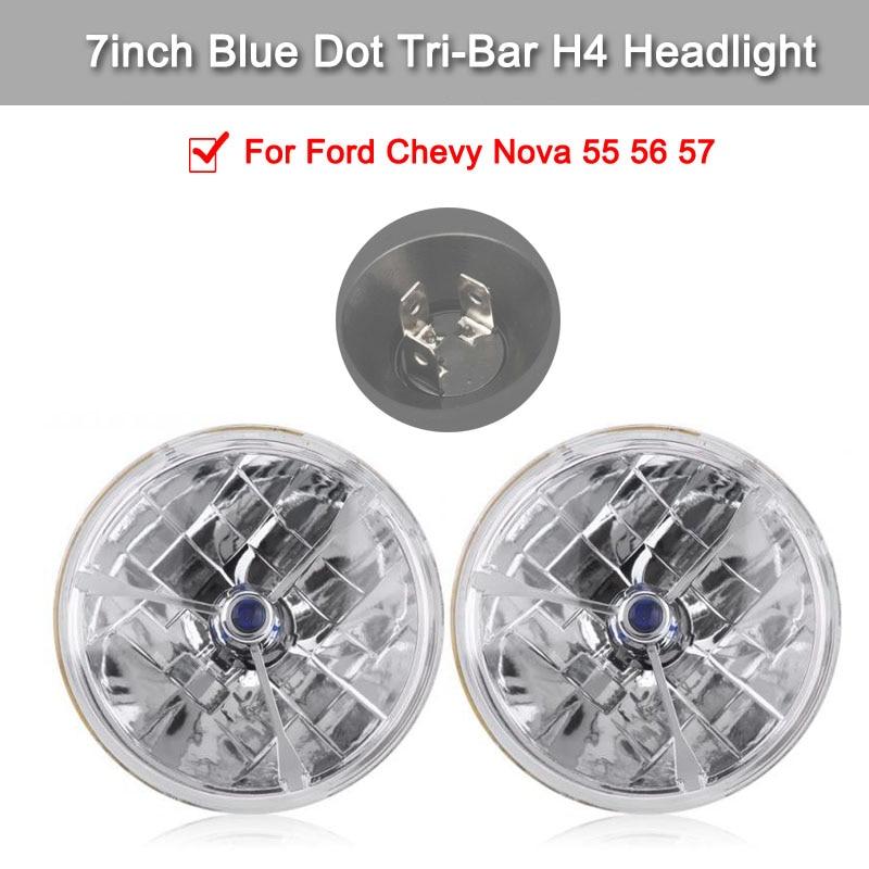 טלוויזיות 25 29 2 נקודה כחולה 7inch יח Tri-בר H4 הדלייט Waterproof נקה עדשה אותות מנורה עבור פורד שברולט נובה 55 56 57 (1)