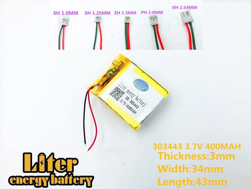 Mp4 Dvd Bluetooth Mp5 Mp3 303443 303545 Plib Polymer Lithium-ion/li-ion Batterie Für Gps Modell Spielzeug Mobilen Bluetooth SorgfäLtig AusgewäHlte Materialien 3,7 V 400 Mah
