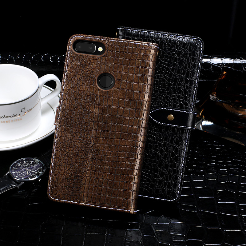 Itgoogo Case For Vernee Mix 2 Case Cover 6.0 Crocodile skin Flip Leather Case For Vernee Mix 2 Cover Phone Bag Wallet Case