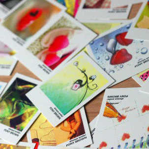 40 листов/коробка, мини-карты в стиле Happy Life, мультипликационные карты «сделай сам», подарочные карты, чистая открытка, поздравительные карты