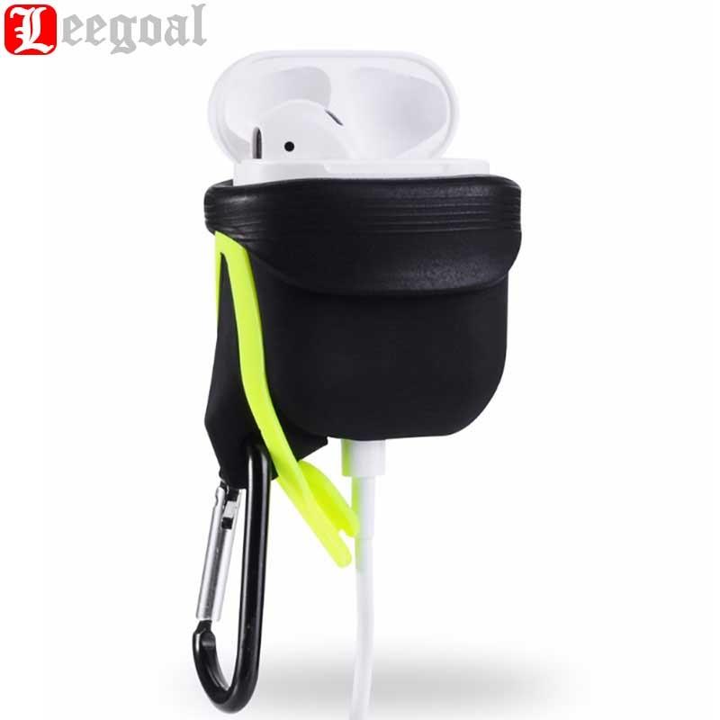 Leegoal Étui En Silicone Pour Airpods Étanche Antichoc Protecteur Cas Pour Apple pour Air Gousses Écouteur Avec Anti-perdu Crochet