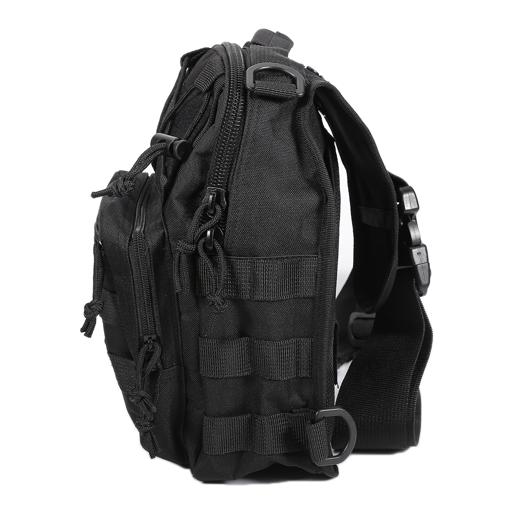 Military Tactical Assault Pack Croosbody Chest Bag Backpack Army Molle Waterproof Bag Small Rucksack for Outdoor Hiking Camping lqarmy 3 day expandable backpack with waist pack large rucksack tactical backpack molle assault bag for day hiking tan